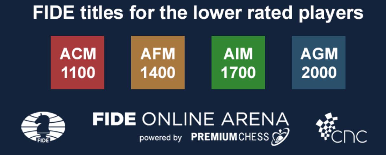 FIDE Online Arena タイトル取得が可能に